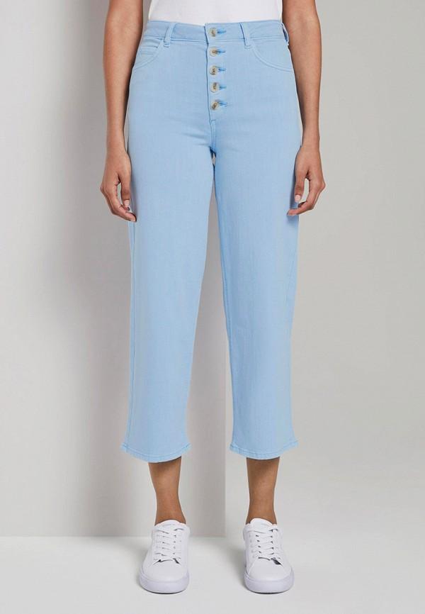 женские бриджи tom tailor, голубые