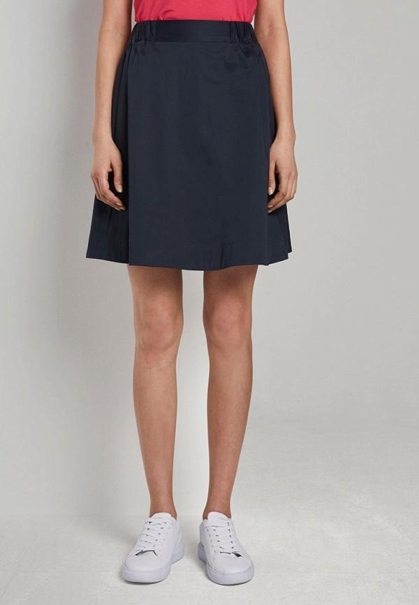 женская юбка-трапеции tom tailor, синяя