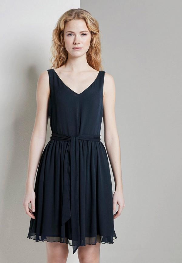 женское вечерние платье tom tailor, синее