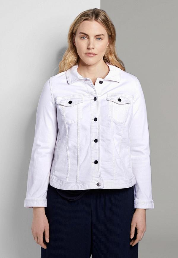 женская джинсовые куртка tom tailor, белая