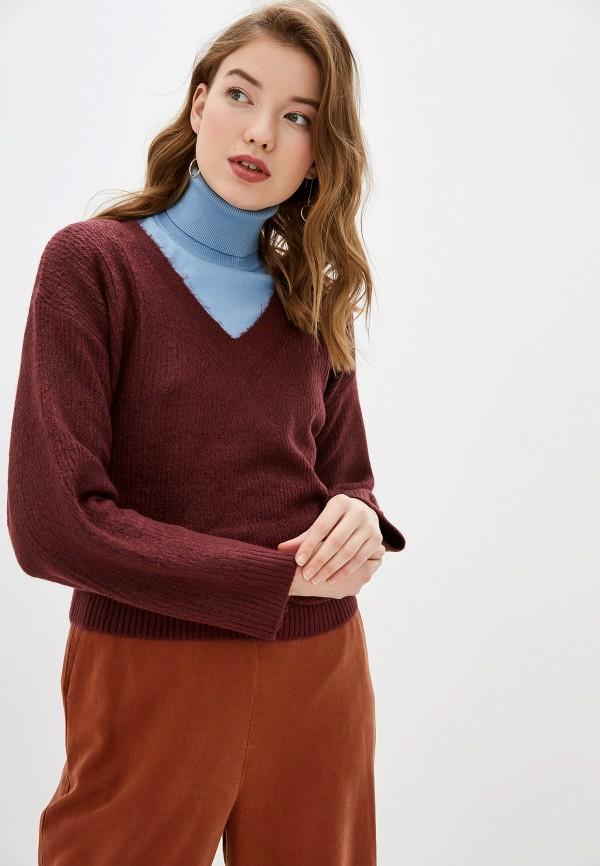 женский пуловер tom tailor, бордовый