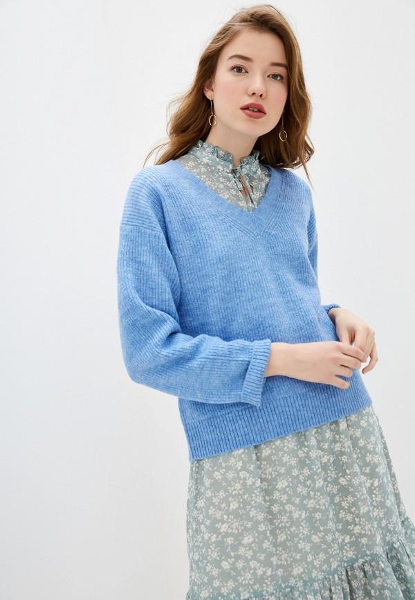 женский пуловер tom tailor, голубой