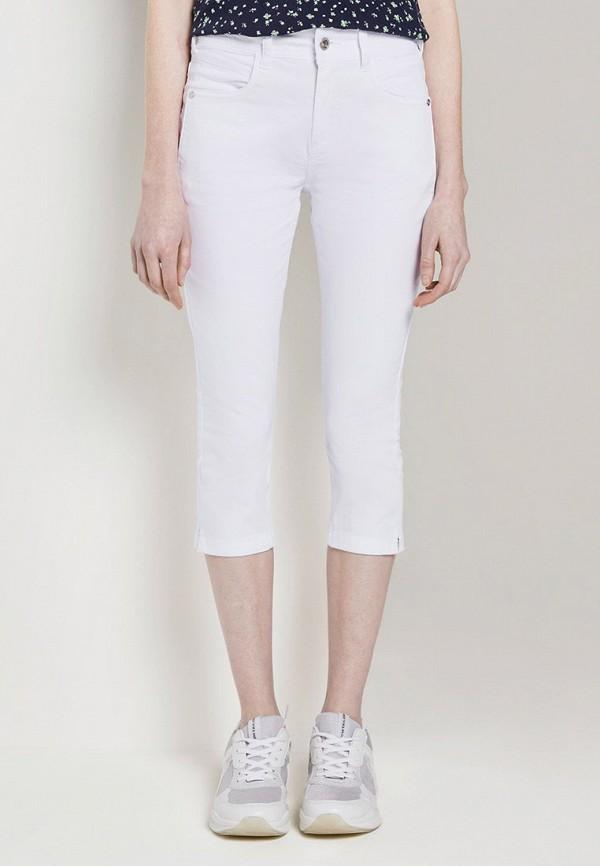 женские капри tom tailor, белые