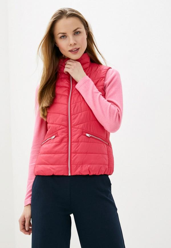 женский жилет tom tailor, розовый