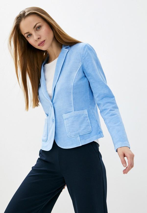 женский жакет tom tailor, синий