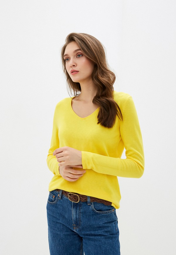 женский пуловер tom tailor, желтый