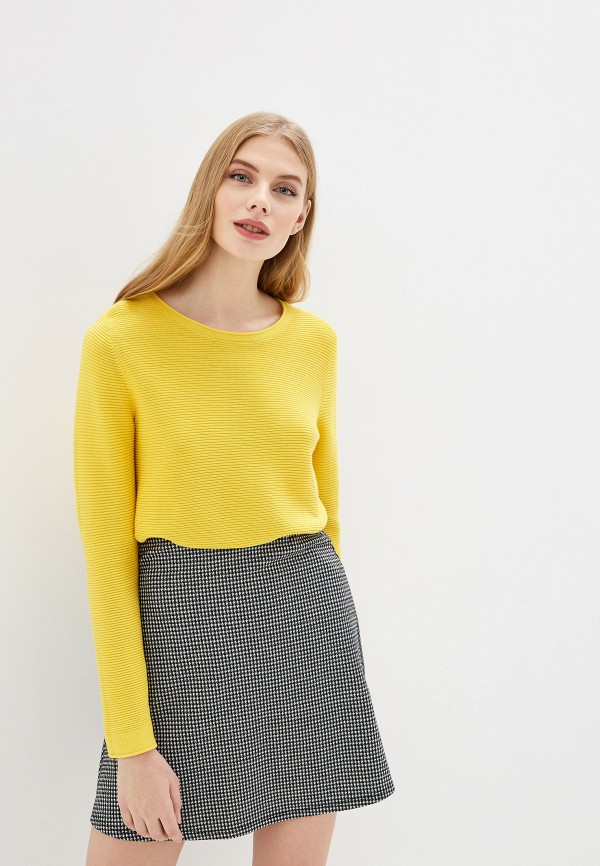 женский джемпер tom tailor, желтый