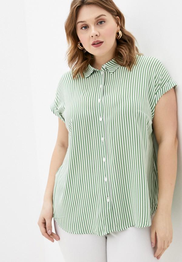 женская блузка с коротким рукавом tom tailor, зеленая