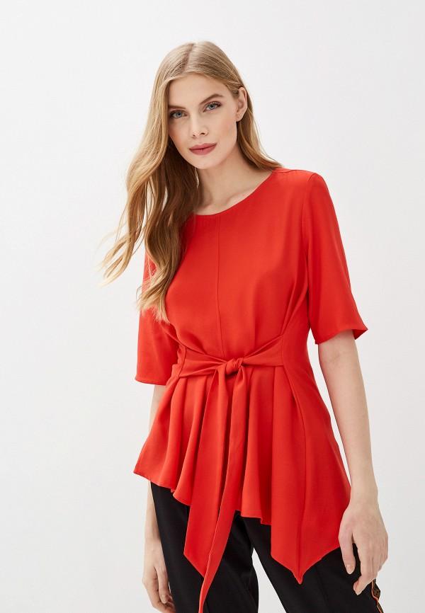 женская блузка tom tailor, красная
