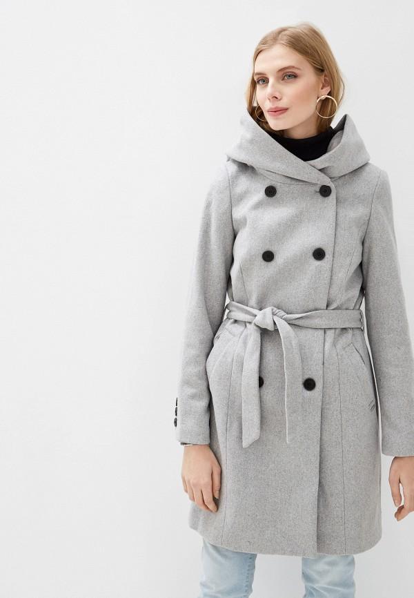 женское пальто tom tailor, серое