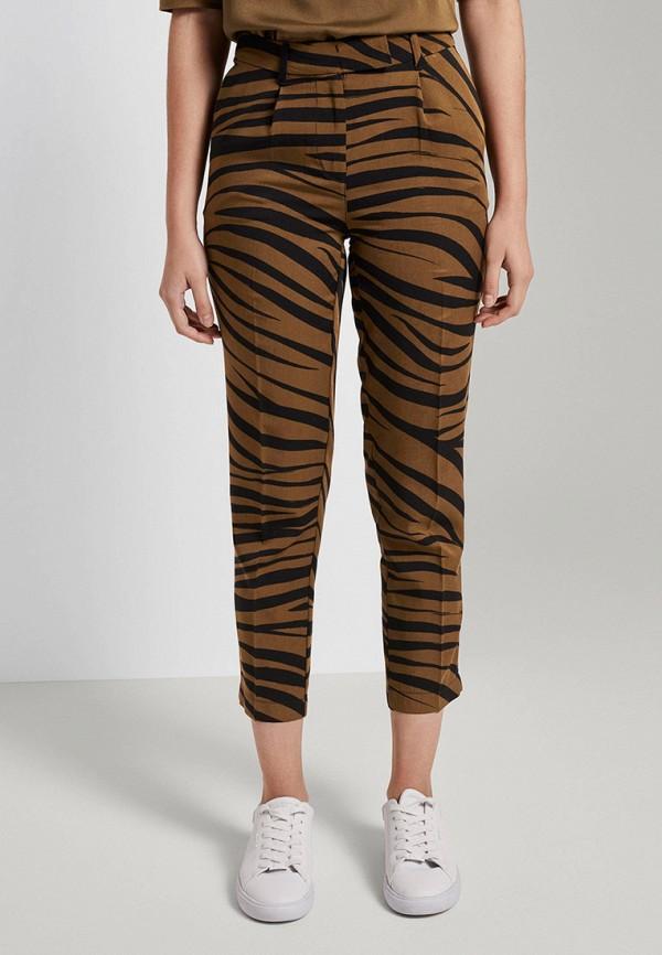 женские повседневные брюки tom tailor, коричневые