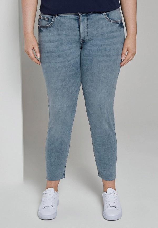женские джинсы скинни tom tailor, синие