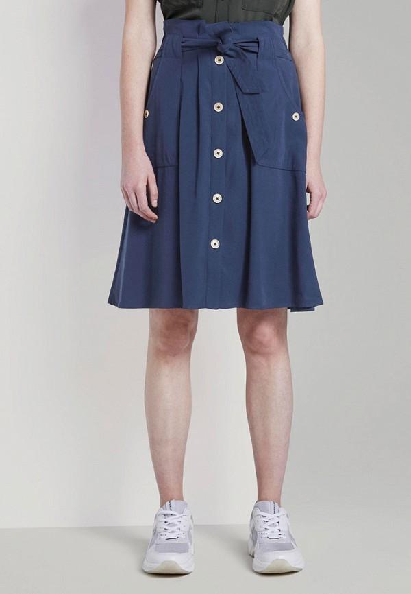 женская юбка tom tailor, синяя