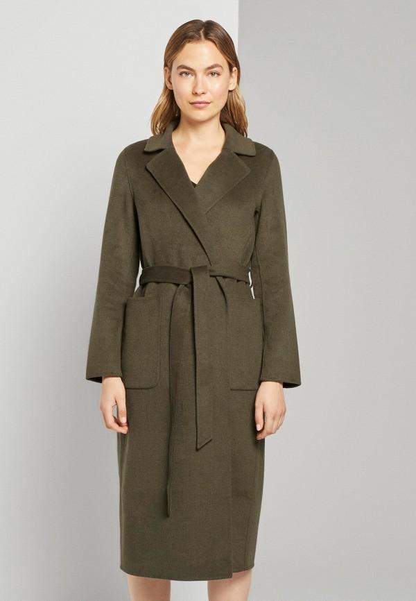 женское пальто tom tailor, хаки