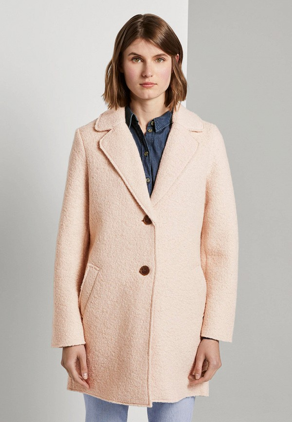 женское пальто tom tailor, бежевое