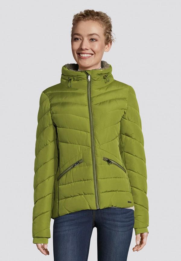 женская утепленные куртка tom tailor, зеленая
