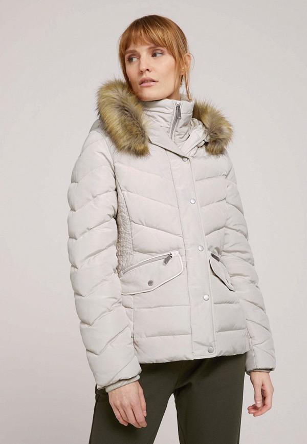 женская куртка tom tailor, серая