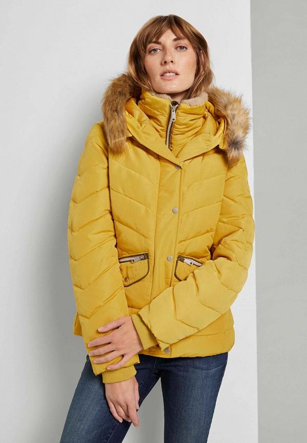 женская куртка tom tailor, желтая