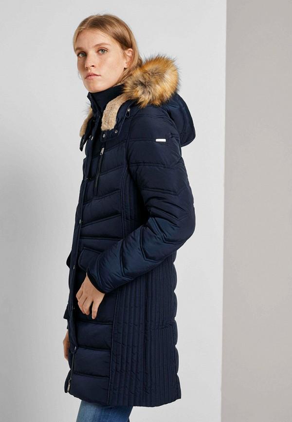 женская куртка tom tailor, синяя