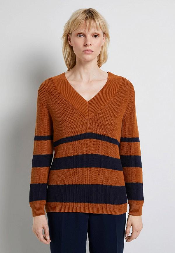 женский пуловер tom tailor, оранжевый