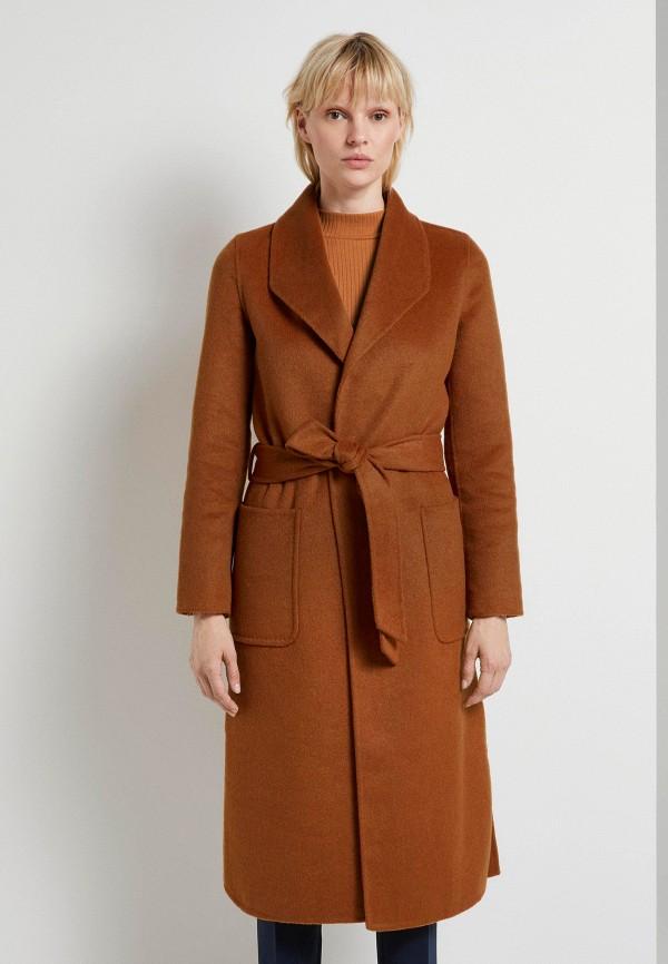 женское пальто tom tailor, коричневое