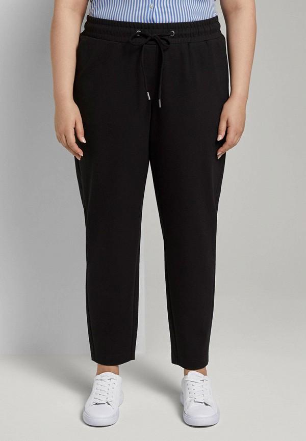 женские зауженные брюки tom tailor, черные