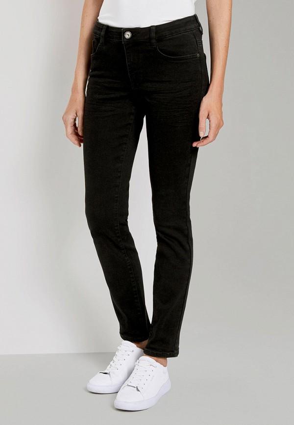 женские джинсы скинни tom tailor, черные