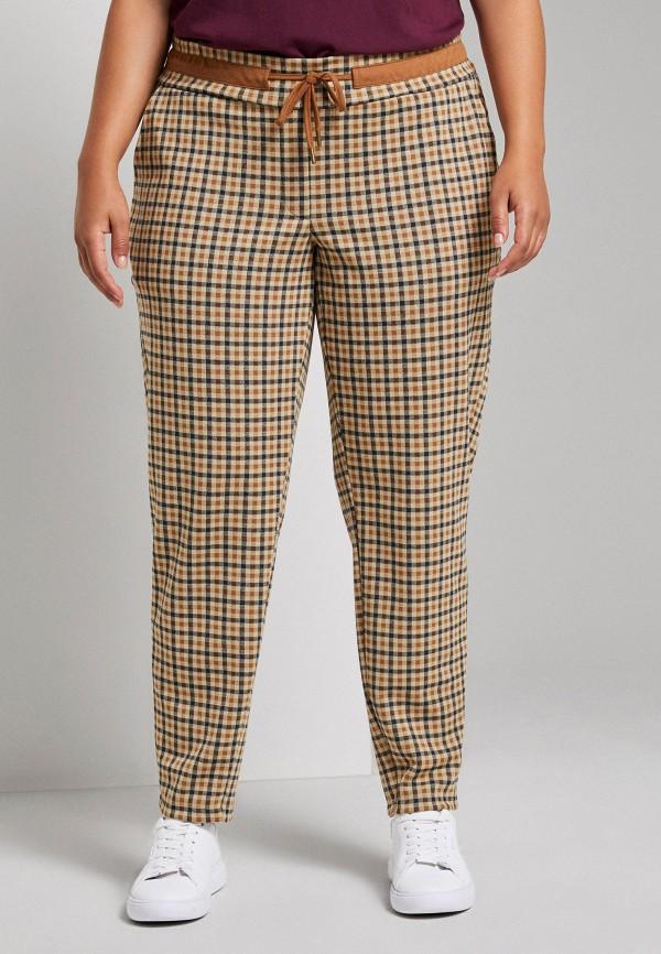 женские зауженные брюки tom tailor, бежевые