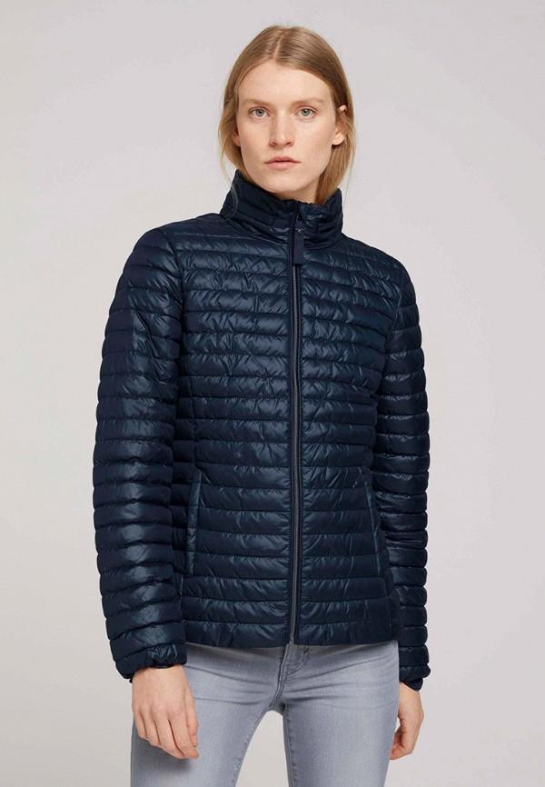 женская утепленные куртка tom tailor, синяя