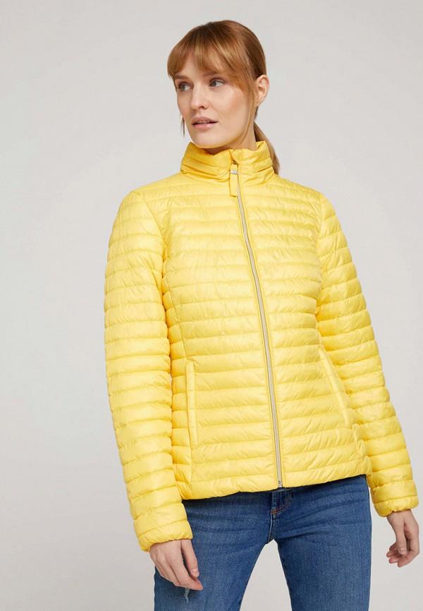женская утепленные куртка tom tailor, желтая