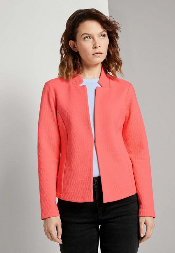 женский жакет tom tailor, розовый