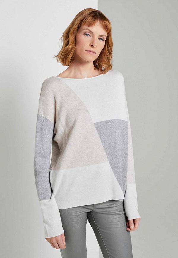 женский пуловер tom tailor, разноцветный