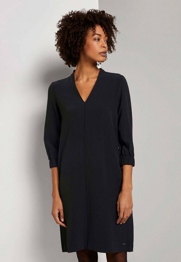 женское повседневные платье tom tailor, черное