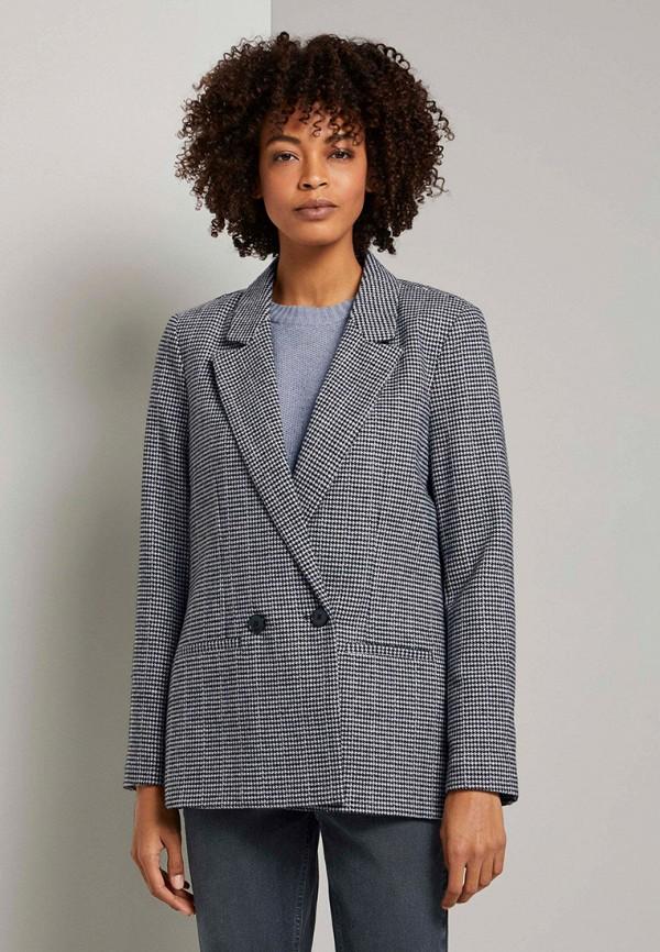 женский пиджак tom tailor, серый