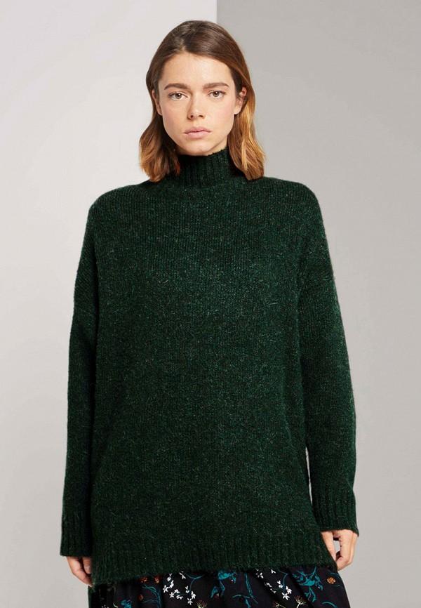 женский свитер tom tailor, зеленый