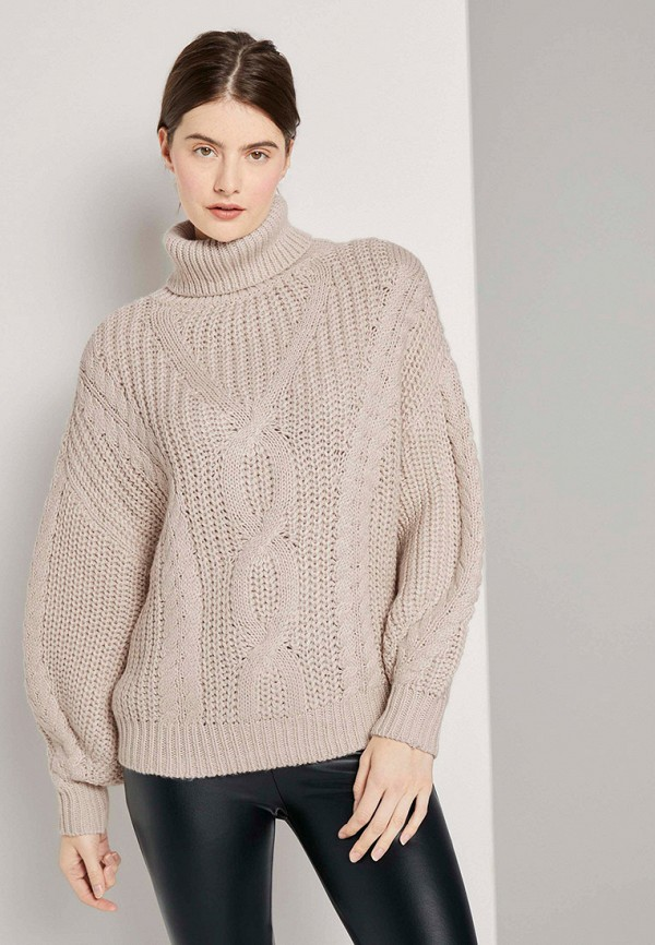 женский свитер tom tailor, бежевый