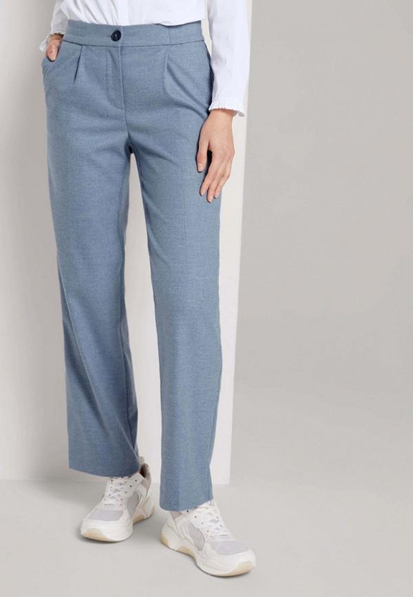 женские повседневные брюки tom tailor, голубые