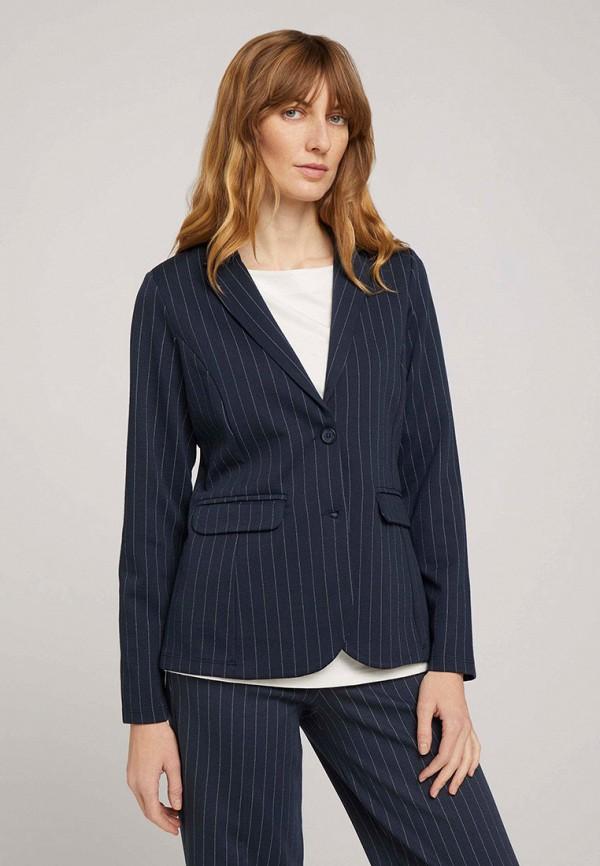 женский пиджак tom tailor, синий