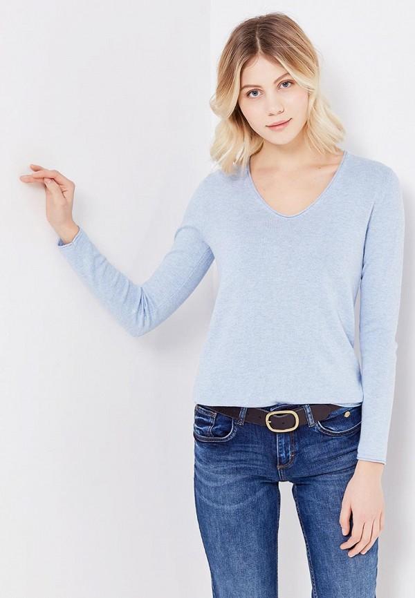 Фото 4 - женский пуловер Tom Tailor голубого цвета