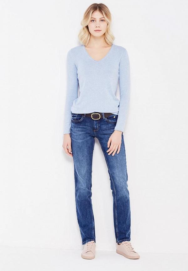 Фото 5 - женский пуловер Tom Tailor голубого цвета