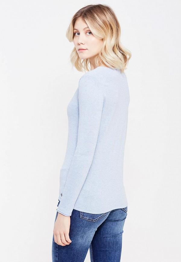 Фото 6 - женский пуловер Tom Tailor голубого цвета
