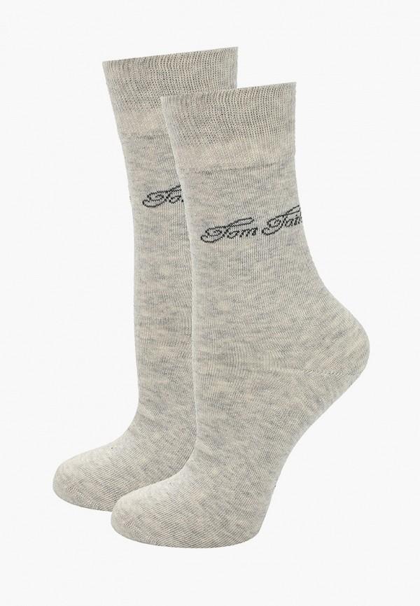 женские носки tom tailor, серые