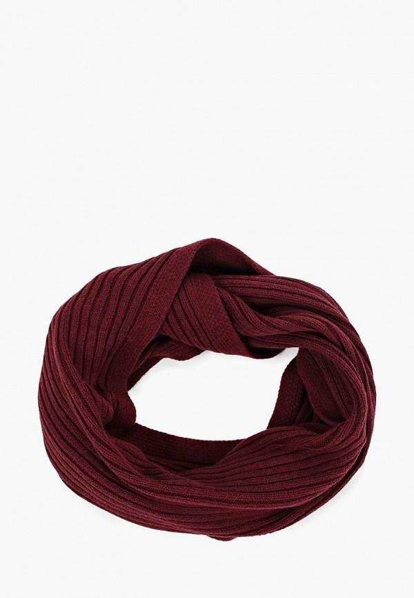 мужской шарф tom tailor, бордовый