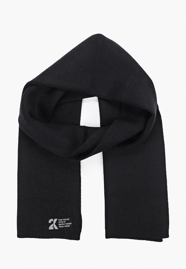 мужской шарф tom tailor, черный