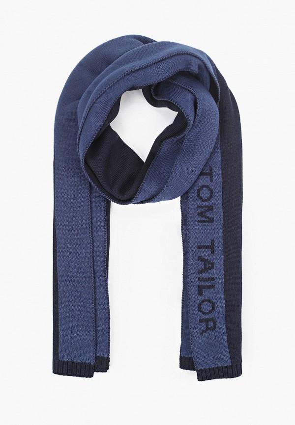 мужской шарф tom tailor, синий