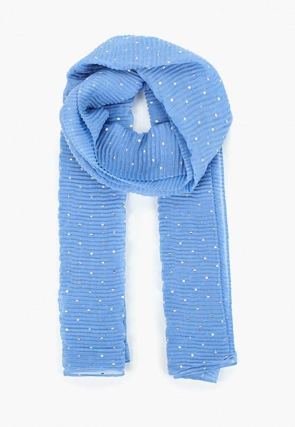 женский палантин tom tailor, голубой