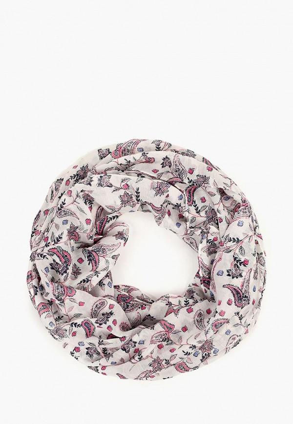 женский шарф tom tailor, белый