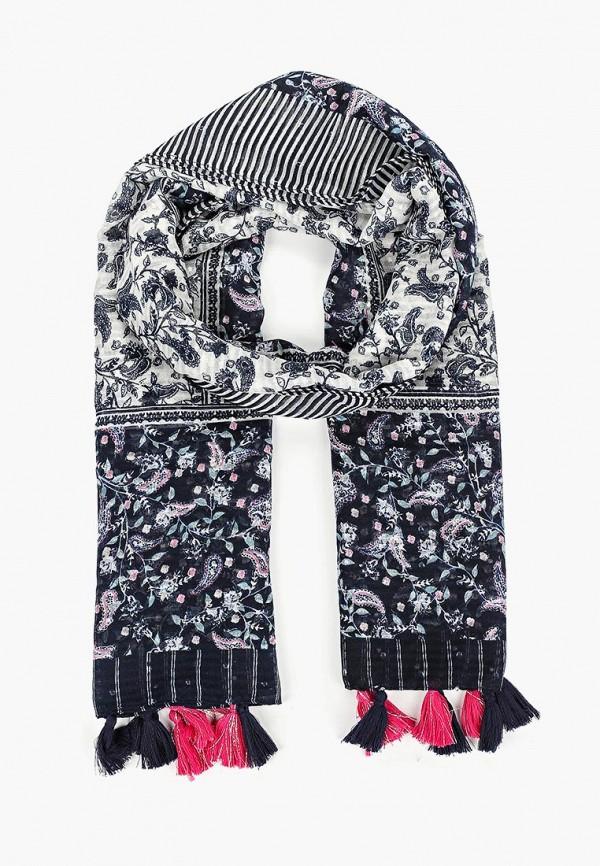женский шарф tom tailor, синий
