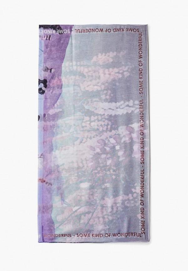 женский шарф tom tailor, фиолетовый