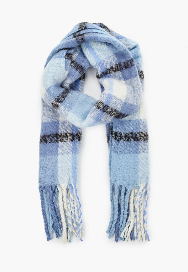 женский шарф tom tailor, голубой
